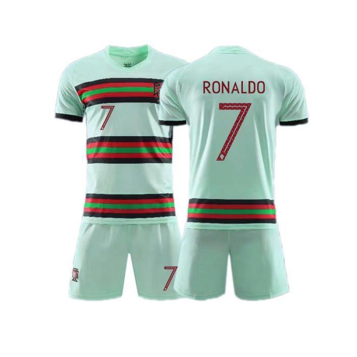 Coupe d'Europe 20/21 Juventus No.7 Cristiano Ronaldo Jersey Maillot et Shorts de football Homme/Enfant-Vert