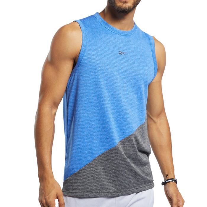 Débardeur Bleu Homme Reebok Workout