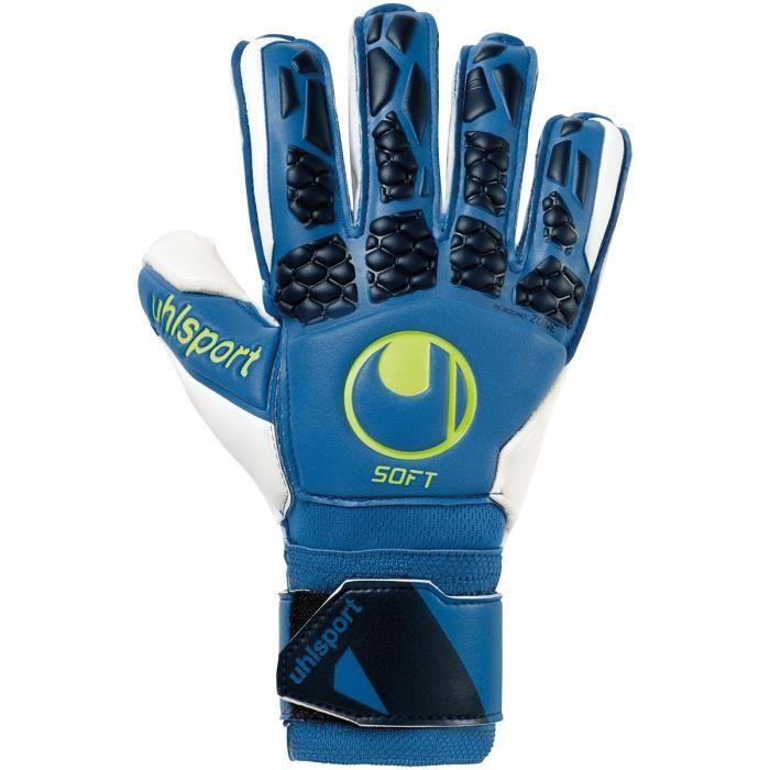 Gants de gardien de but Uhlsport hyperact soft flex frame - bleu nuit/blanc/jaune fluo - 8,5
