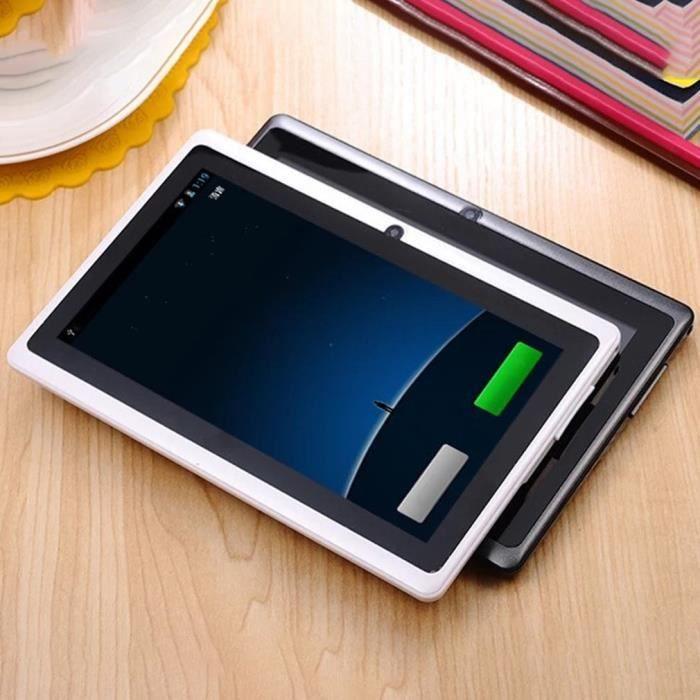 7 pouces écran HD tablette Tactile Pc A33 sans fil 512M+4G - blanc