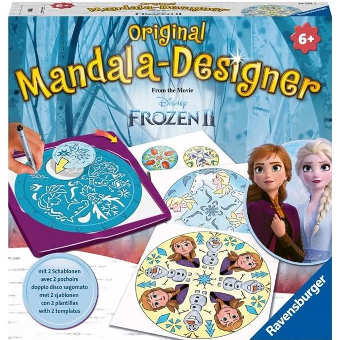 Mandala - midi - Disney La Reine des Neiges 2