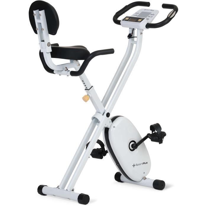 Vélo d'Appartement Pliable - SportPlus - SP-HT-1004-IE - 24 Niveaux de Résistance - Capteurs de Pouls intégrés
