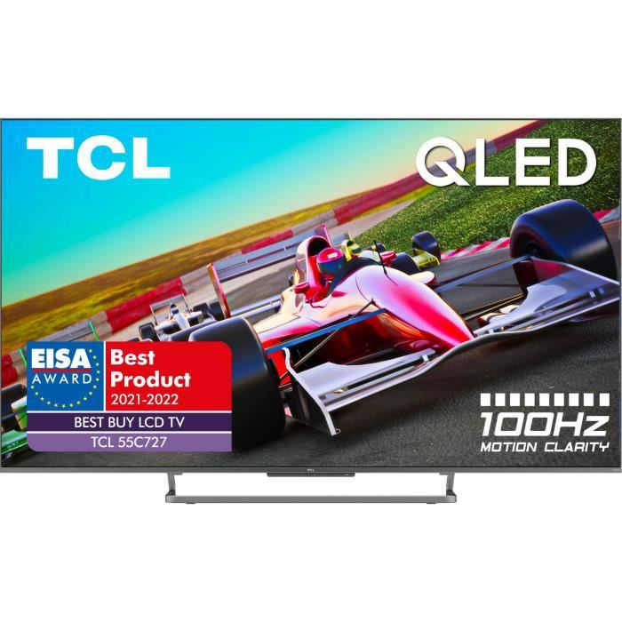TCL TV 55C727 - TV QLED UHD 4K - 55- (139cm) - Dalle 100Hz - Dolby Vision - son Dolby Atmos ONKYO - Android TV - 4 x HDMI 2.1