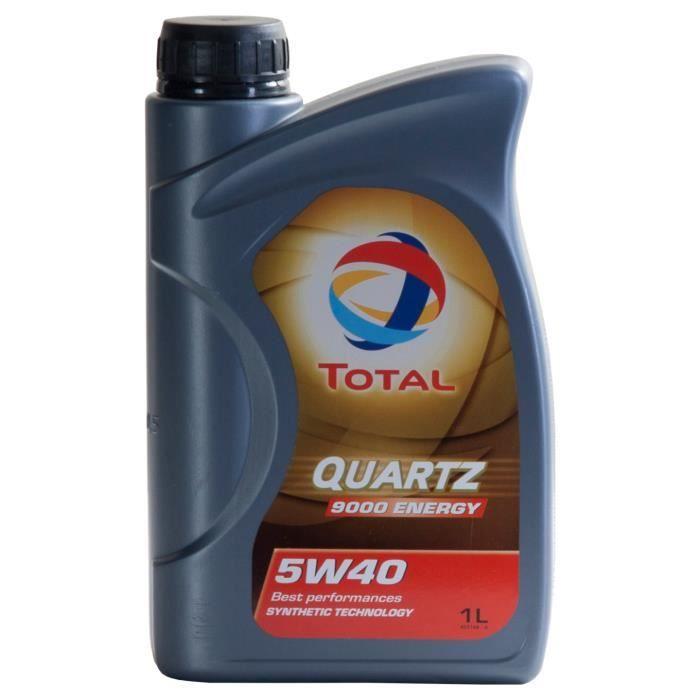Huile moteur Total QUARTZ 9000 ENERGY 5W-40 1 Litres Boîte