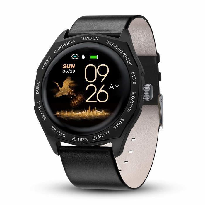 Montre Femmes Homme Sport Bracelet Connecté Étanche Bluetooth Montre Intelligente Cardiofréquencemètre Podomètre Calorie Fitness