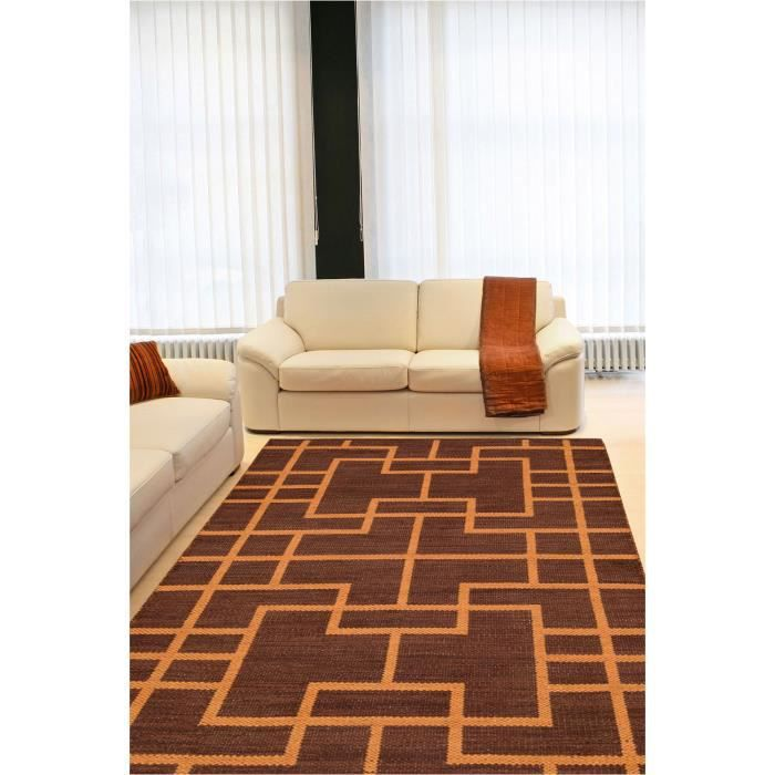 tapis design nourison bbl3 maze paris marron 236x330 par. Black Bedroom Furniture Sets. Home Design Ideas