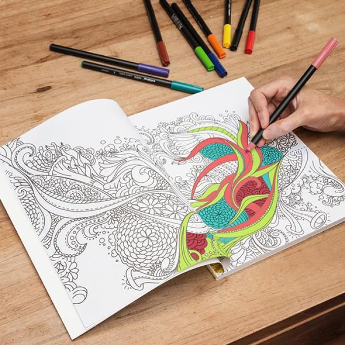 coloriage anti stress cdiscount