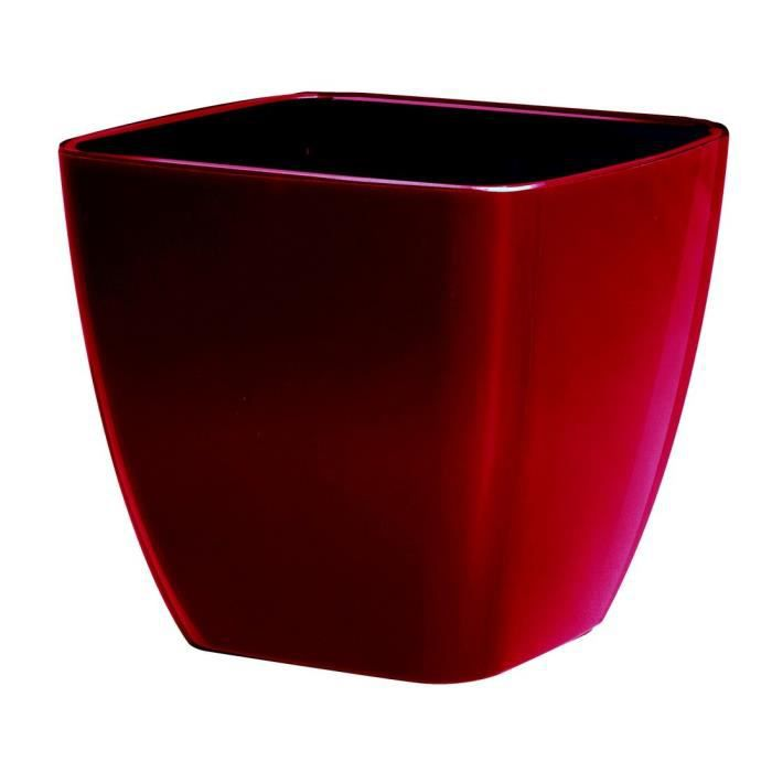 pot de fleur rouge achat vente jardini re pot fleur pot de fleur rouge cdiscount. Black Bedroom Furniture Sets. Home Design Ideas