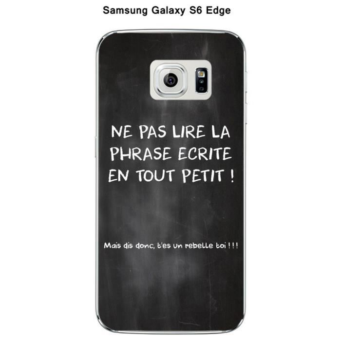 coque samsung galaxy s6 edge citation tableau 3 achat. Black Bedroom Furniture Sets. Home Design Ideas