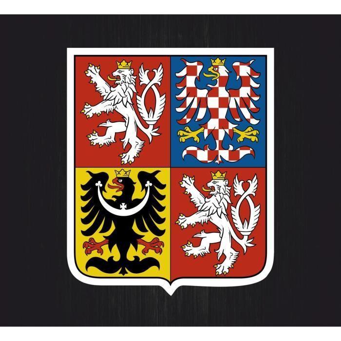 10,2/cm R/épublique tch/èque Blason badge Crest 100/mm Vinyle autocollant autocollant