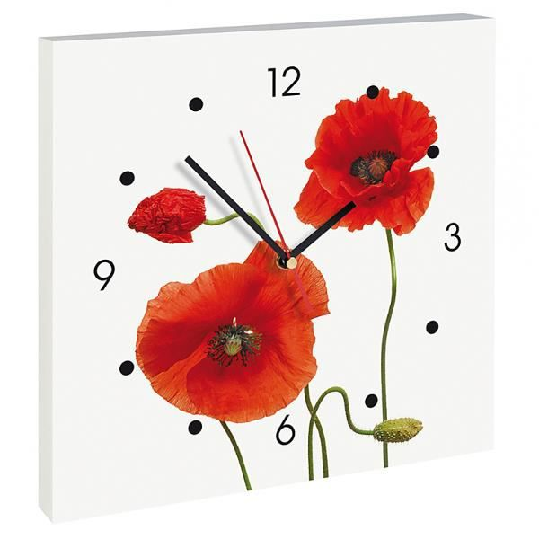horloge murale coquelicot achat vente horloge cdiscount. Black Bedroom Furniture Sets. Home Design Ideas