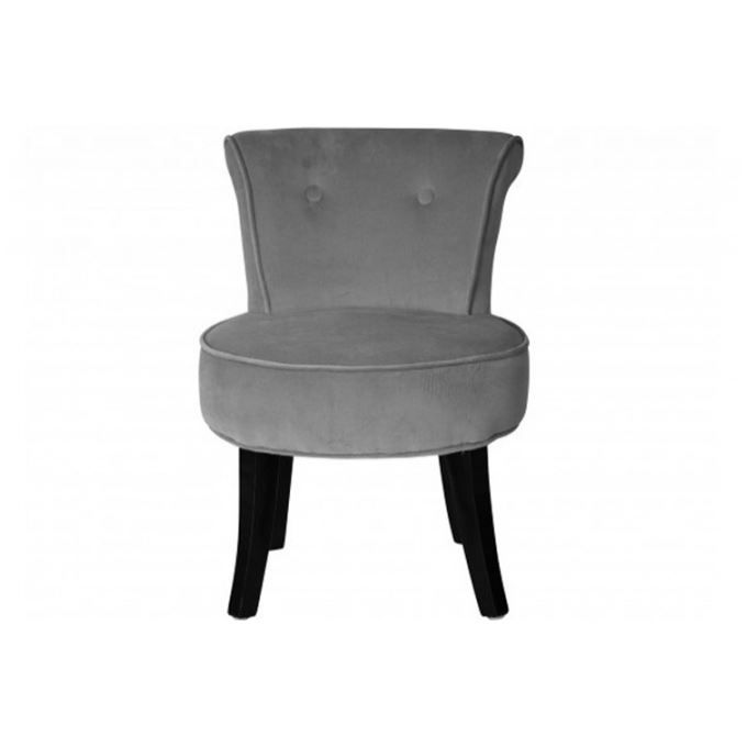 petit fauteuil enfant crapaud boudoir velours gris achat. Black Bedroom Furniture Sets. Home Design Ideas