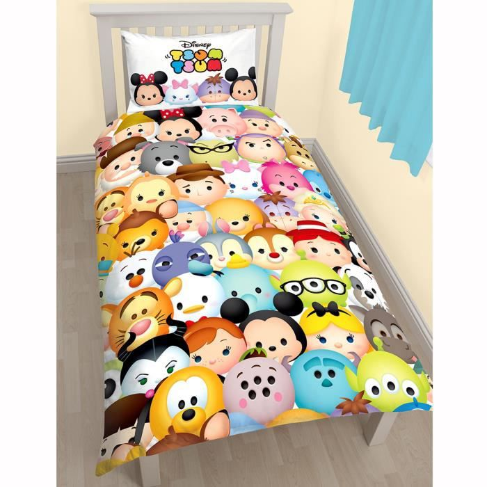tsum tsum huddle simple housse de couette et taies d 39 oreiller achat vente lit combine tsum. Black Bedroom Furniture Sets. Home Design Ideas