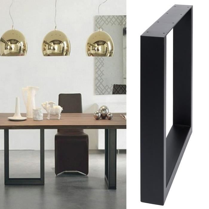 pied de table forme de cadre noir en acier achat vente pied de table pied de table forme de. Black Bedroom Furniture Sets. Home Design Ideas