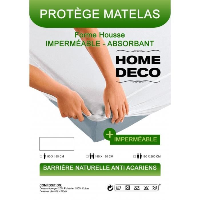 PROTÈGE MATELAS  Protège-matelas imperméables, absorbant et anti-ac