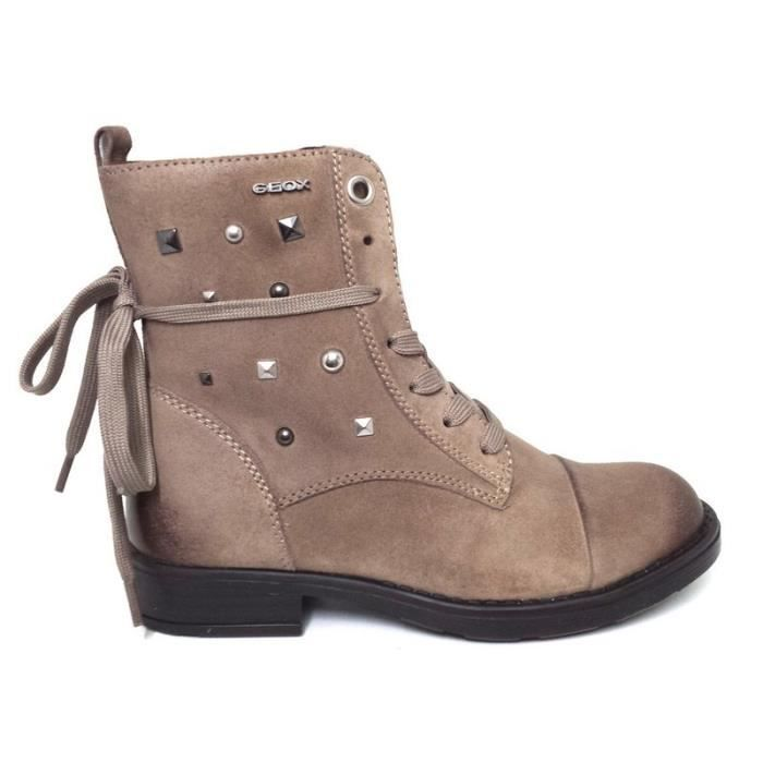 Géox Bottines Fille Marron Zippé (38 - Médium - marron)
