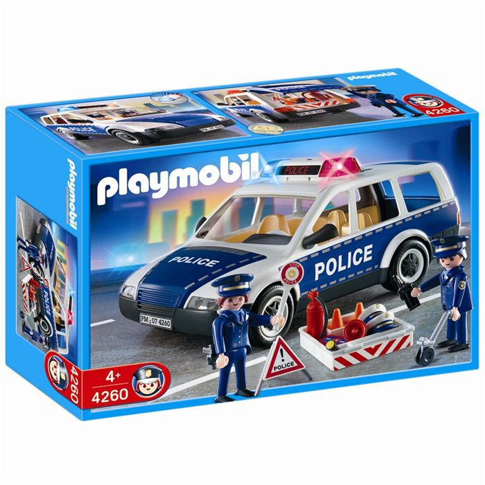 playmobil voiture de police et patrouille achat vente univers miniature cdiscount. Black Bedroom Furniture Sets. Home Design Ideas