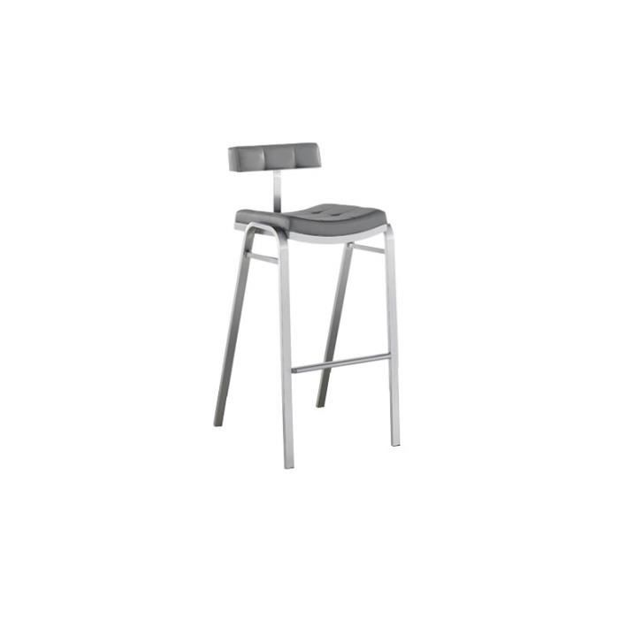 Tabouret bar cuisine en inox bross hauteur assise 75cm for Chaise pour table haute