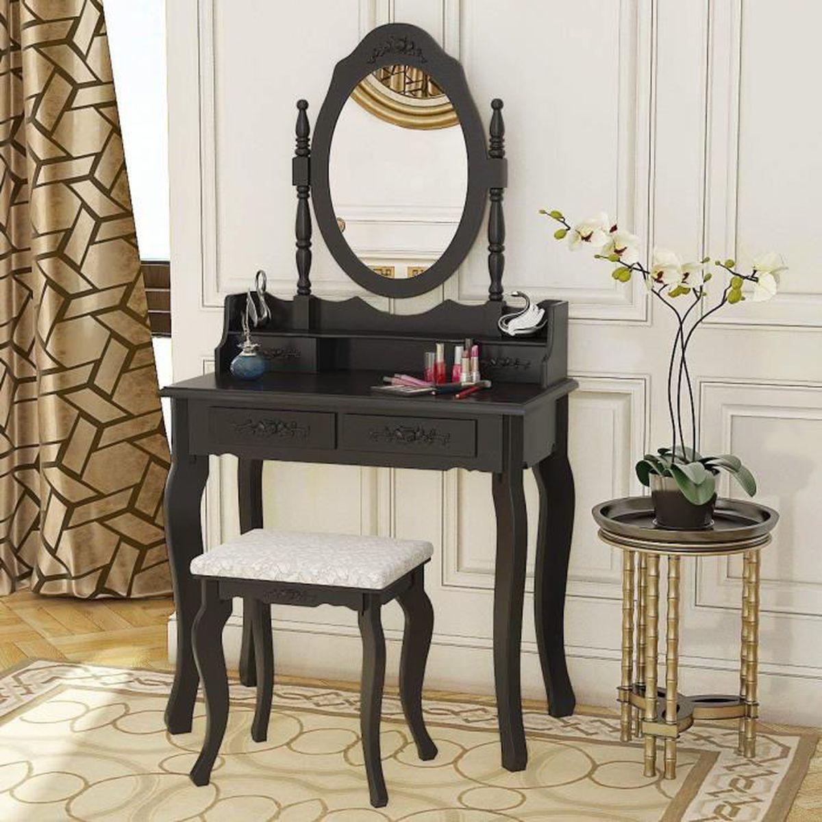 Fantasy Fields Table de maquillage coiffeuse tabouret miroir Bouquet W-3843G