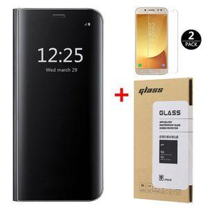 HOUSSE - ÉTUI Coque Galaxy J5 2017 + [2 Pack] Verre trempé, Miro