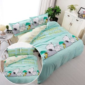 HOUSSE DE COUETTE 4 pcs Multicolore Cartoon Snoopy Imprimé Confortab