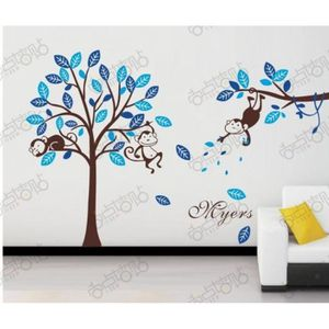 stickers muraux arbre et singe achat vente stickers muraux arbre et singe pas cher les. Black Bedroom Furniture Sets. Home Design Ideas