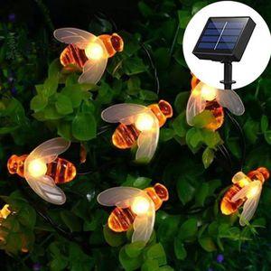 Lights4fun Guirlande Lumineuse Solaire 20 Abeilles LED pour ...