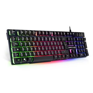 CLAVIER D'ORDINATEUR EMPIRE GAMING CLAVIER  SEMI-MECANIQUE RGB  EMPIRE