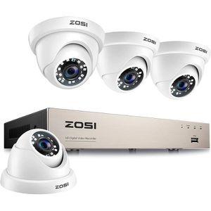 CAMÉRA DE SURVEILLANCE ZOSI HD TVI 8CH 1080p DVR Enregistreur avec 4pcs C