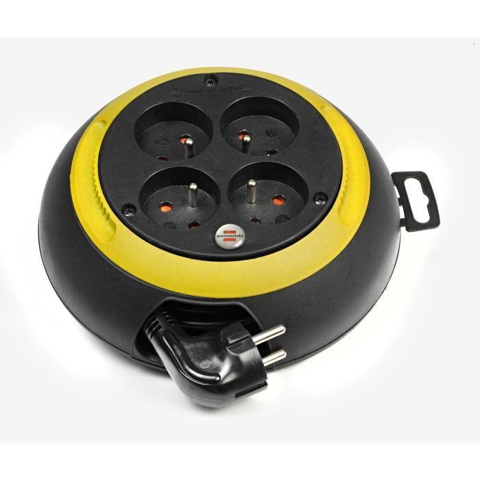 BRENNENSTUHL Enrouleur domestique Design-box cl-s noir/jaune 3m H05VV-F 3G1.0