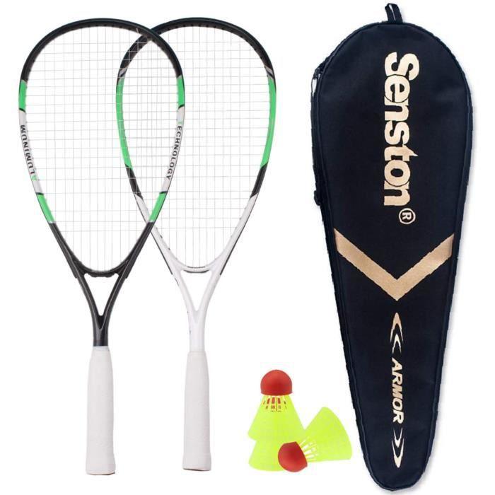 Senston Ensemble de Speedminton 2 Joueurs Allround Speed Badminton/Crossminton Set avec 3 Speeder Balle