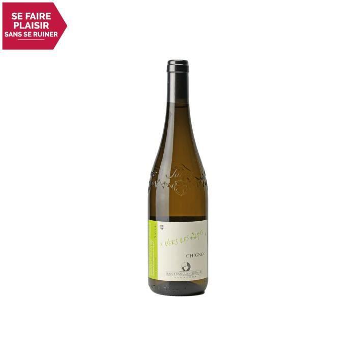 Vin de Savoie Chignin Vers les Alpes Blanc 2019 - 75cl - Domaine Jean-François Quénard - Vin AOC Blanc de Savoie - Bugey - Cépage