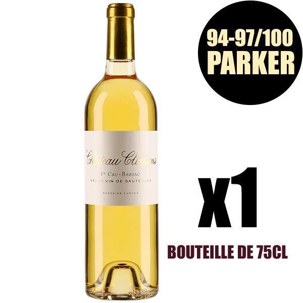 X1 Château Climens 2015 75 cl AOC Sauternes 1er Cru Classé Vin Blanc Vin Liquoreux