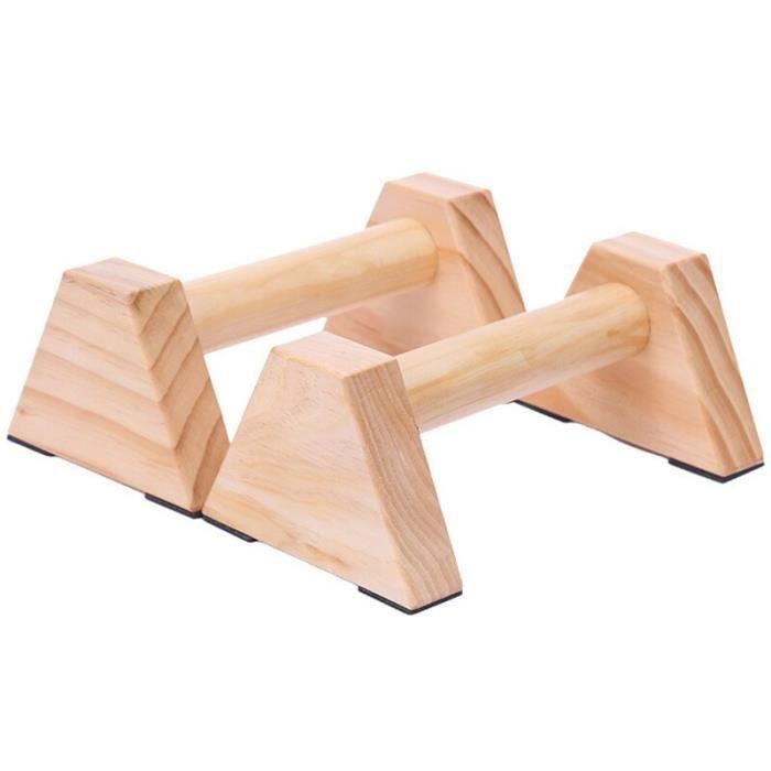 1 paire Calisthenics barre de support en bois Fitness exercice outils entraînement engrenage pompes Double - ZOAMFWZDA09208