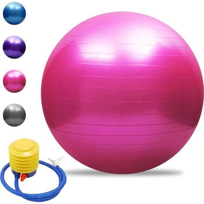 Swiss Ball Bureau, Ballon Grossesse, Ballon Gym, Ballon Pilates, Chaise Ballon, Ballon Fitness 55cm-65cm-75cm-85cm, 200 kg, ave 230