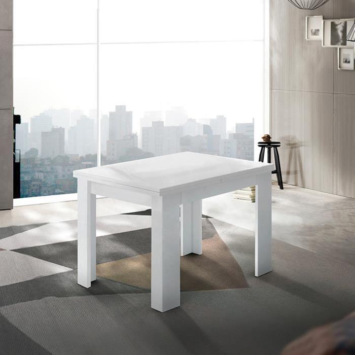 Table console extensible blanche de design moderne Jesi Liber