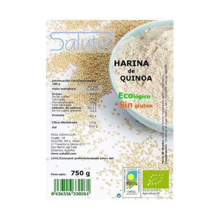 Salutef+Farine de quinoa ECO 750 g de poudre