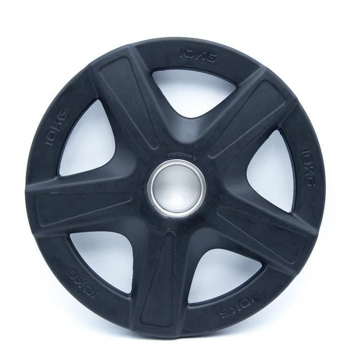 Disque Olympique Premium - 10 kg - Noir