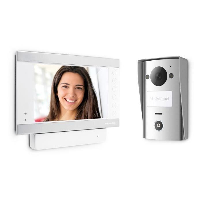 THOMSON Visiophone couleur 2 fils Smart 7- avec mémorisation des visiteurs