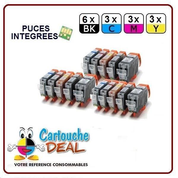 6+9 CANON Pixma MP610 MP800 MP800R MP810 MP830 Cartouche générique compatible