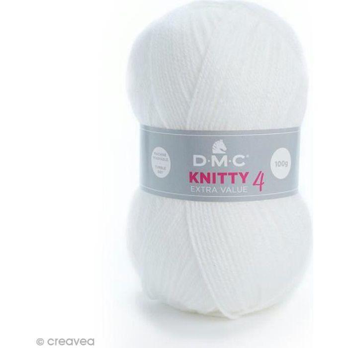 Laine Knitty 4 DMC - 100 g Laine Acrylique Knitty 4, de DMC :Coloris: Blanc 961Matière : 100 % acrylique Poids : 100 g Longueur :