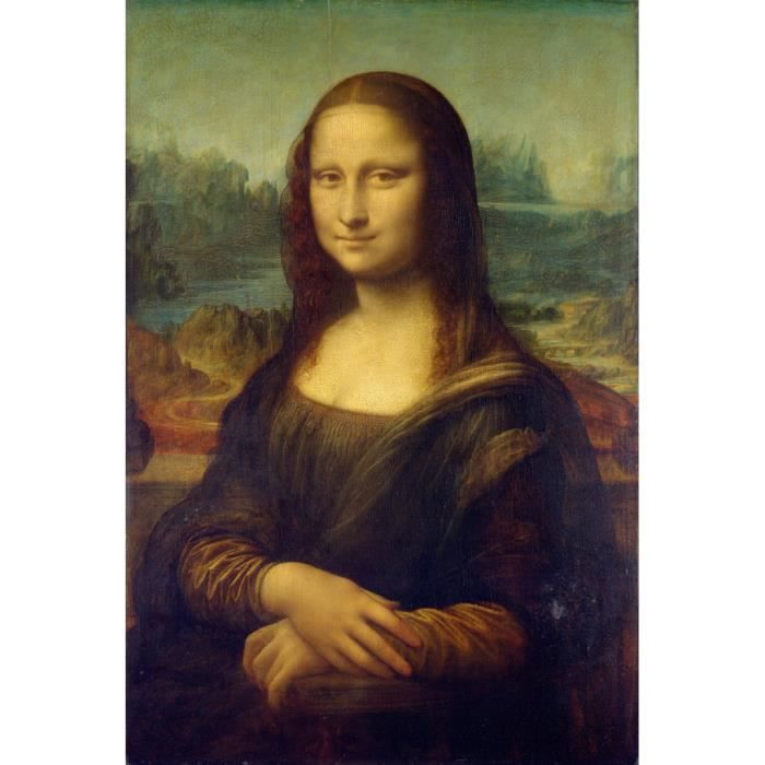Poster Affiche Mona Lisa La Joconde De Vinci Peinture Historique 31cm x 46cm
