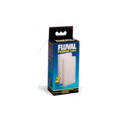 FLUVAL 2 blocs de mousses 406 - Pour aquarium