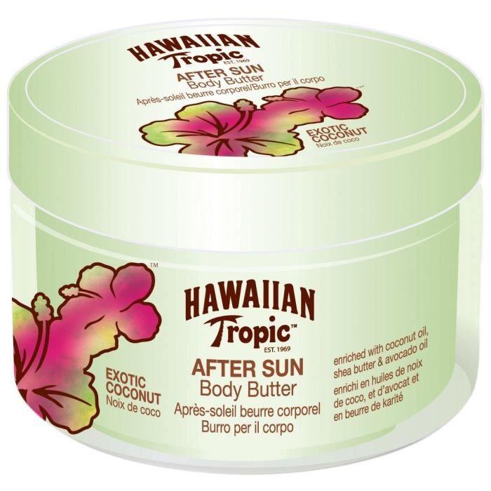 HAWAIIAN TROPIC Beurre corporel apès soleil - Noix de coco - 200 ml