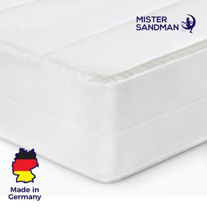 Matelas 200x200 cm matelas tout type de lits confort orthopédique housse amovible matelas anti-acarien, épaisseur 15 cm