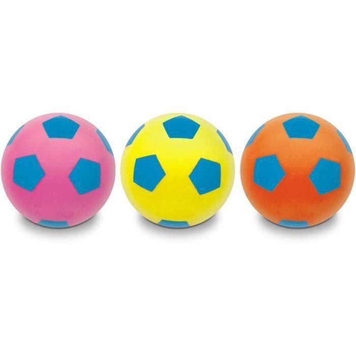 MONDO - Ballon Soft Football Fluo 20cm - Enfant - Mixte - Idéal récré
