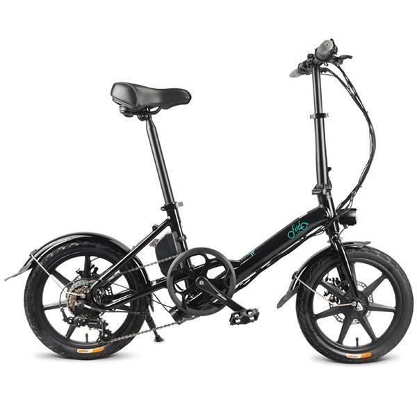 Vélo Électrique Pliant FIIDO D3S - 7.8Ah - 16 Pouces - 6 vitesses Shimano - Noir