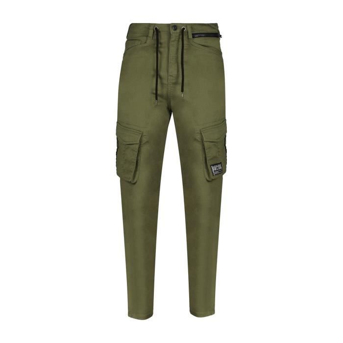 DEELUXE Pantalon cargo coupe tapered WILLY Lychen