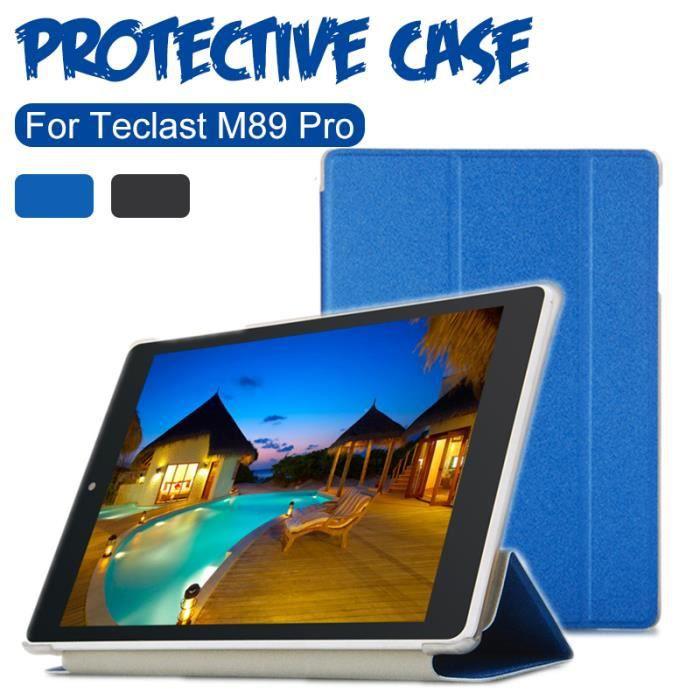 Étui pour tablette Etui ultra mince pour tablette Teclast M89 Pro Bleu
