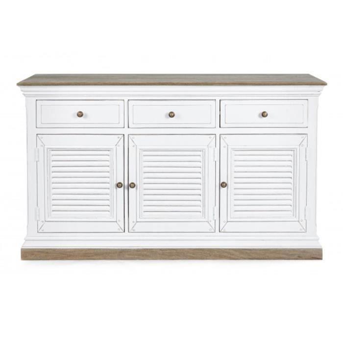 Meuble avec 3 portes et 3 tiroirs - Dim : L 150 x P 45 x H 90 cm